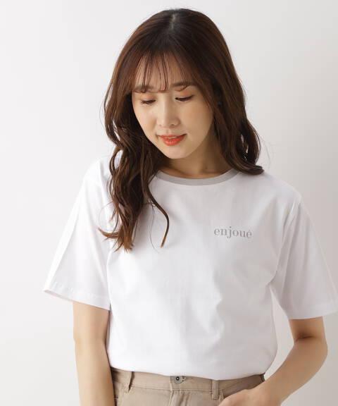 オーガニックコットンリンガーロゴTシャツ