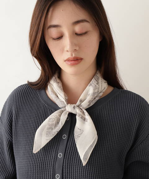[洗える]バンダナパターンスカーフ