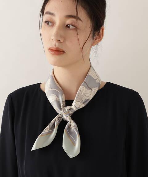 [洗える]リリーフラワーPtスカーフ