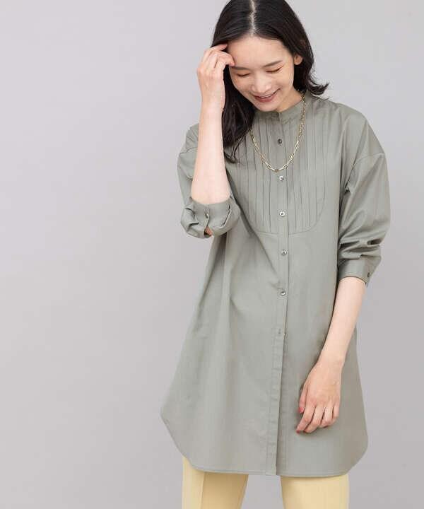 [洗える]ブザムチュニックシャツ
