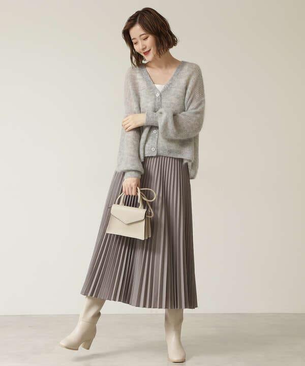 ウーステッドライクプリーツスカート