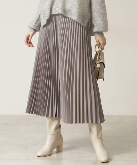 【先行予約9月下旬-10月上旬入荷予定】ウーステッドライクプリーツスカート