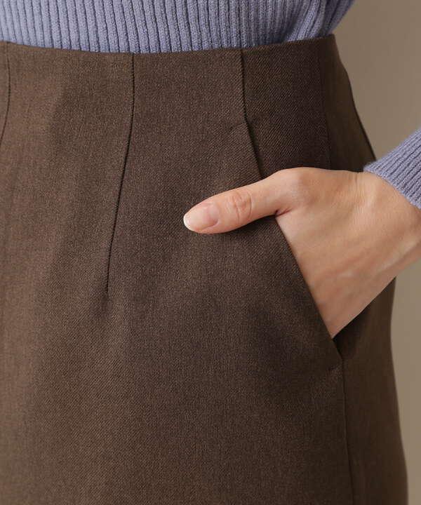 [洗える]センタースリットストレートスカート