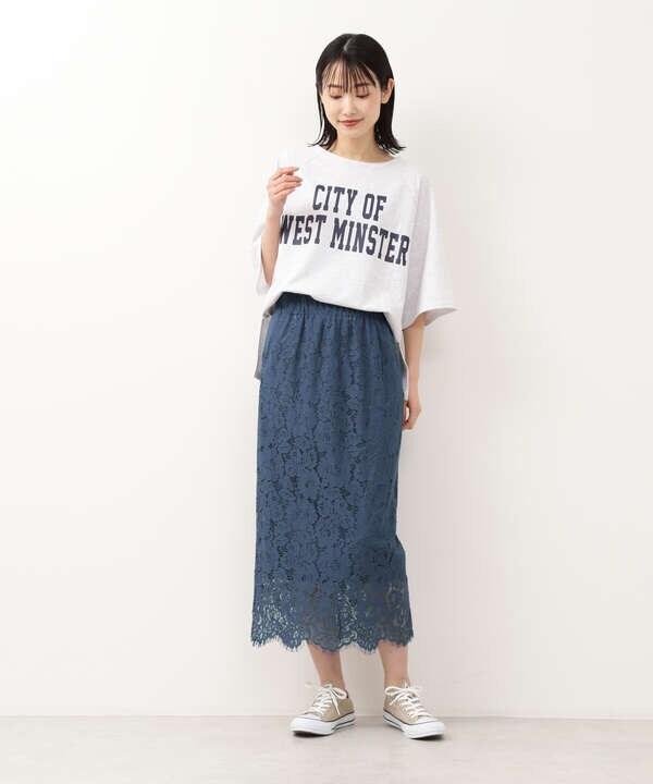 【Stylist金子綾さんコラボ】カラーレーススカート