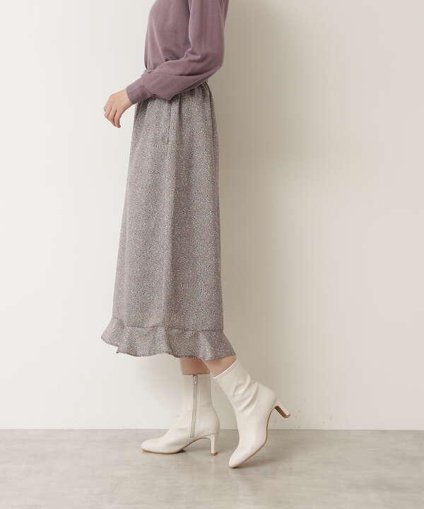 フラワープリント切り替えスカート