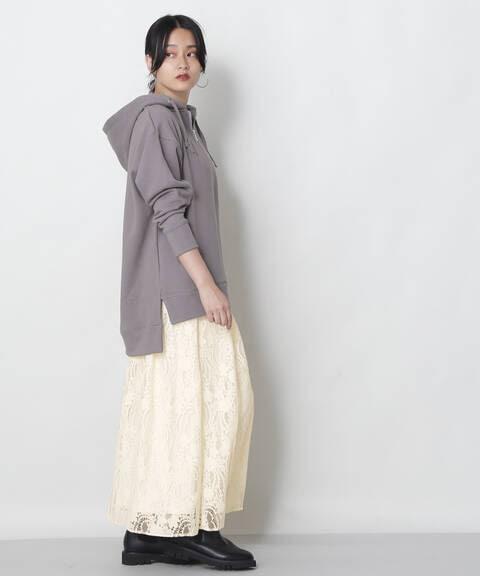起毛レーススカート