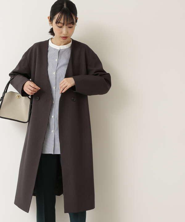 ウールライクVネックコート