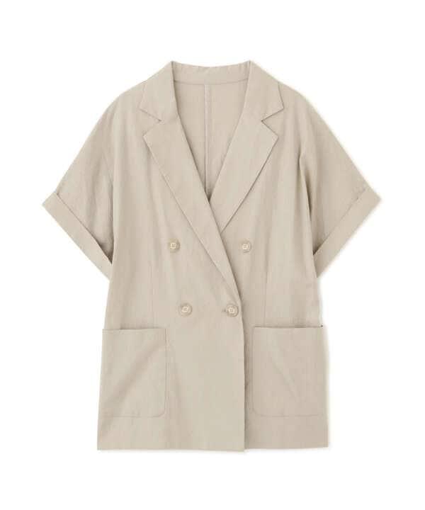 リネン混リラックステーラードジャケット