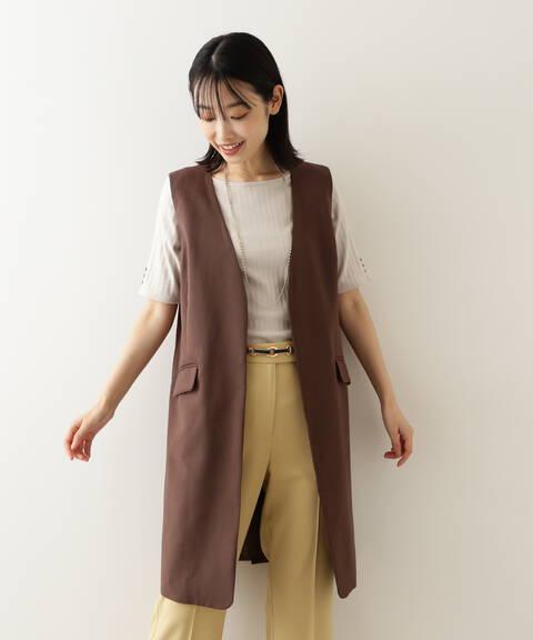 [洗える]ジレ&パンツセットアップ ジレ