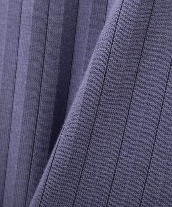 三角テレコカットソー五分袖