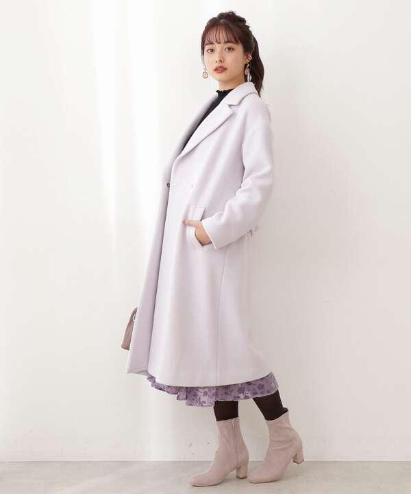 《堀田茜さん着用 美人百花12月号掲載商品》Wモッサチェスターコート