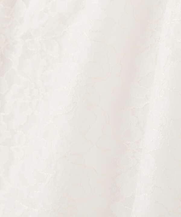 シアーレースフレアスリーブブラウス: WEB限定カラー:ミント