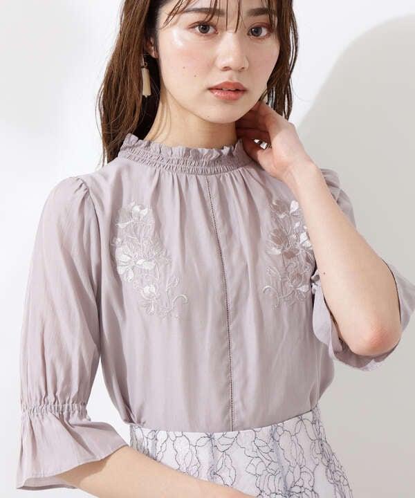 【美人百花5月号 掲載商品】エンブロイダリーブラウス