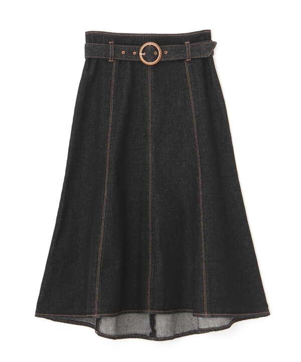デニムマーメイドフレアスカート