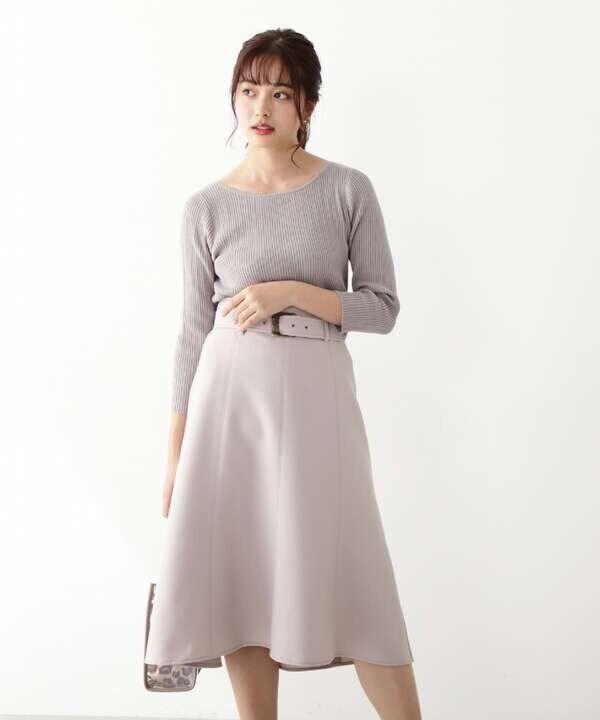 カラーツイルマーメイドスカート