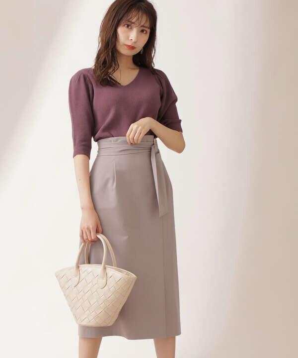【美人百花5月号 掲載商品】サッシュベルトタイトスカート