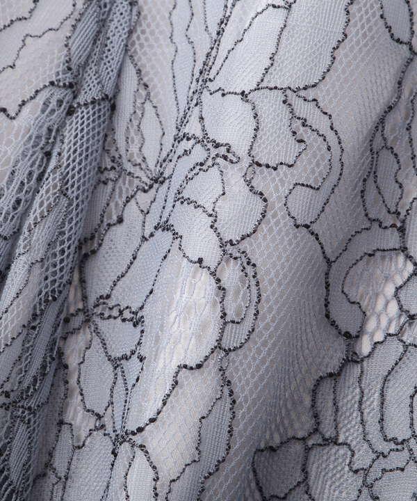【追加生産予約5月下旬-6月上旬入荷予定モカブラウンのみ】【美人百花5月号 掲載商品】レースフレアスカート WEB限定カラー:ダスティブルー