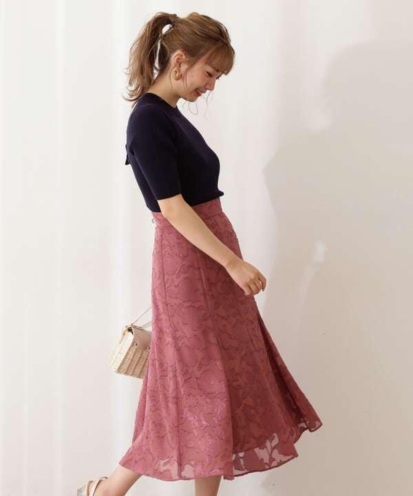 【美人百花5月号 掲載商品】ジャガードマーメイドスカート