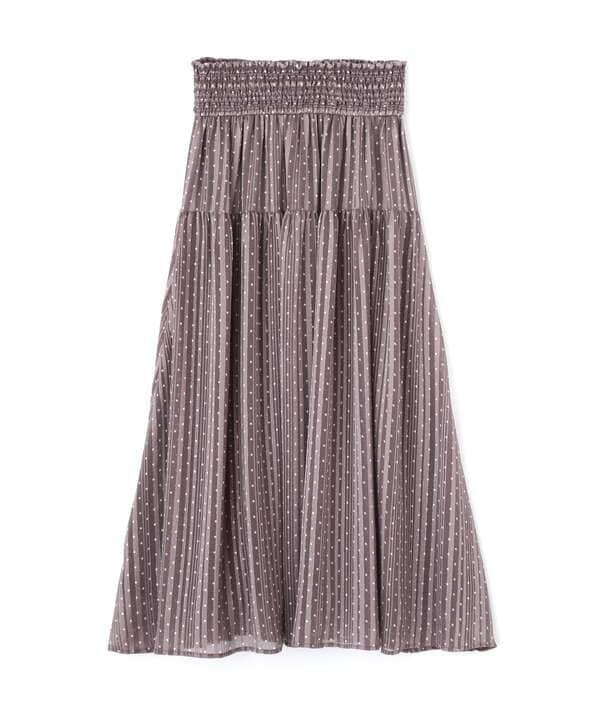 ウエストシャーリングシアードットスカート