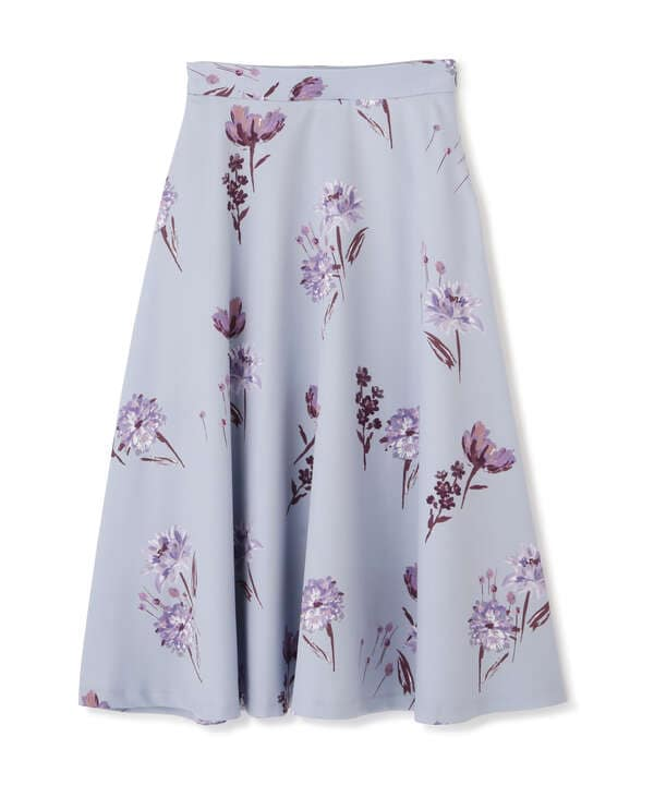 《EDIT COLOGNE》フラワープリントフレアスカート