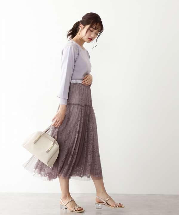 《EDIT COLOGNE》プリーツチュールスカート