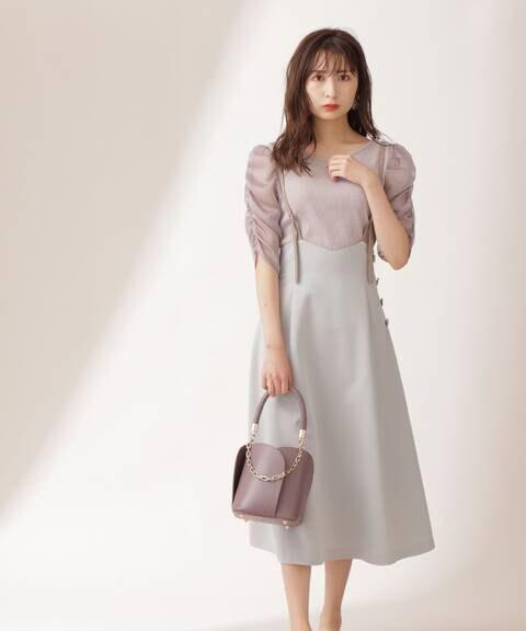 バックリボンTRジャンパースカート