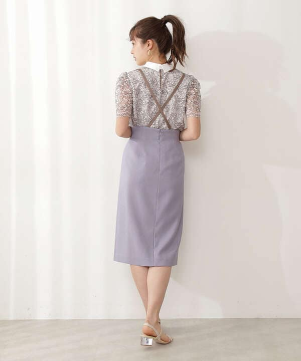 【美人百花5月号 掲載商品】フロント釦タイトジャンパースカート
