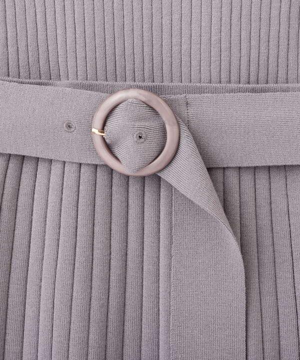 【美人百花5月号 掲載商品】フレアスリーブ×タイトスカートニットセットアップ