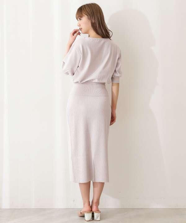 【美人百花5月号 掲載商品】サマータイトニットセットアップ