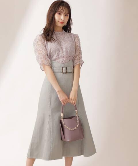 カラーマーメイドジャンパースカート