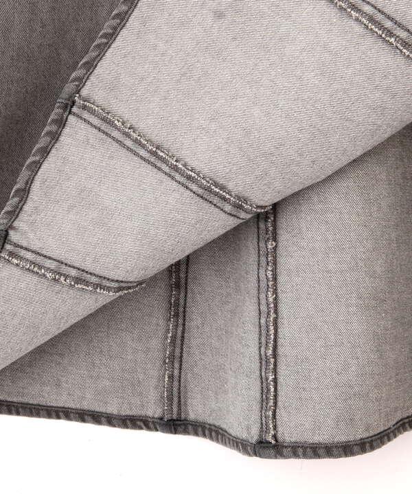 【美人百花5月号 掲載商品】デニムマーメイドジャンパースカート WEB限定カラー:ダークインディゴ