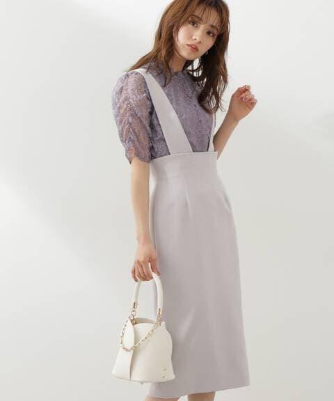 【先行予約5月下旬-6月上旬入荷予定】2Wayハイウエストタイトジャンパースカート