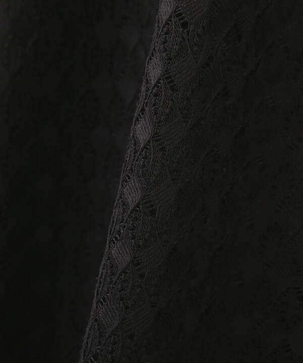【美人百花5月号 掲載商品】《EDIT COLOGNE》ウエストベルト付ジャージーレースワンピース