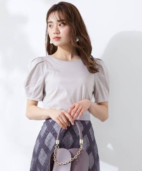 【美人百花5月号 掲載商品】ボリュームスリーブスムースカットソー