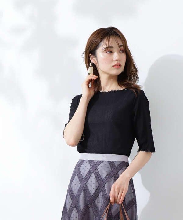 【美人百花5月号 掲載商品】メロウリブカットソー