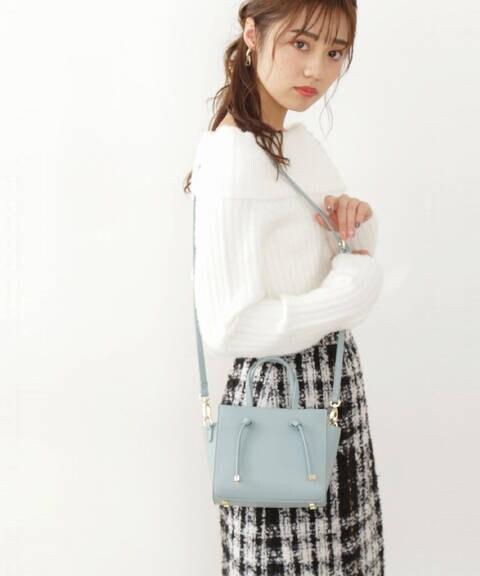 《堀田茜さん着用 美人百花12月号掲載商品》リボンハンドルポシェット