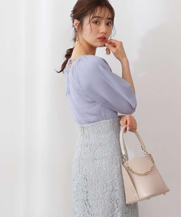 【堀田茜さん着用 美人百花6月号 掲載商品】ペタルバッグ