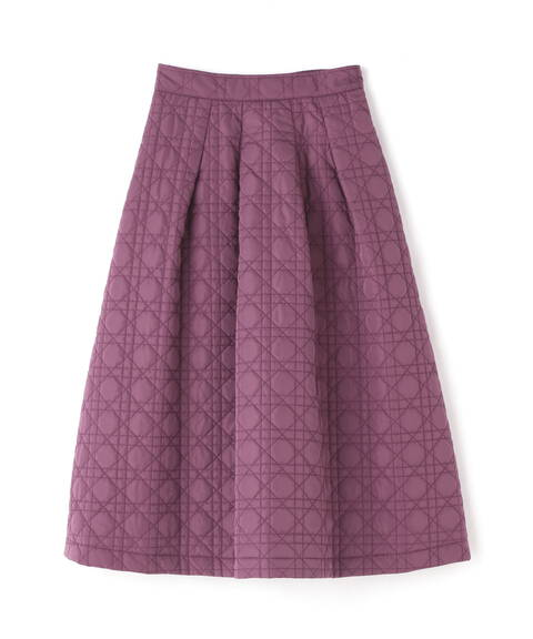 【先行予約10月中旬-10月下旬入荷予定】キルティングフレアースカート