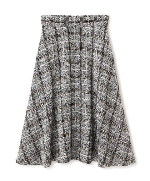 【先行予約11月上旬-11月中旬入荷予定】チェックツイードフレアスカート
