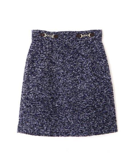 【先行予約11月上旬-11月中旬入荷予定】ビットチャーム付台形スカート