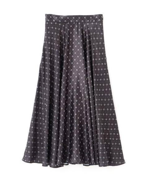 【先行予約11月中旬-11月下旬入荷予定】幾何ドットスカート