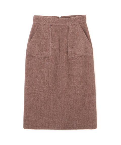 【先行予約11月中旬-11月下旬入荷予定】ツィーディーメランジサージタイトスカート