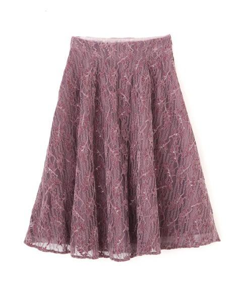 【先行予約11月中旬-11月下旬入荷予定】リーフレーススカート