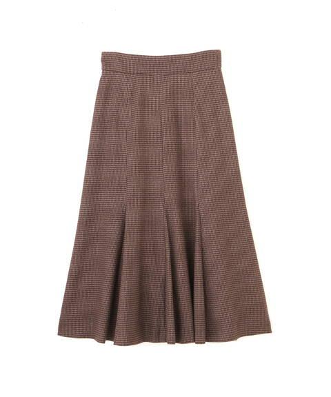 【先行予約11月中旬-11月下旬入荷予定】ミックスハウンドトゥースマーメイドスカート