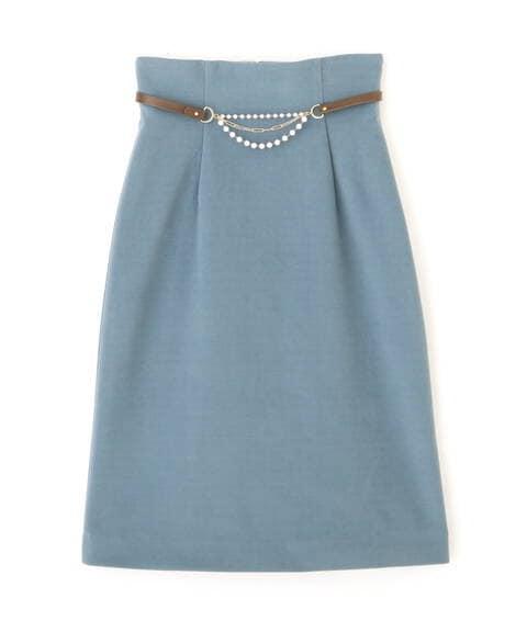 【先行予約11月下旬-12月上旬入荷予定】2Wayチャームベルトタイトスカート
