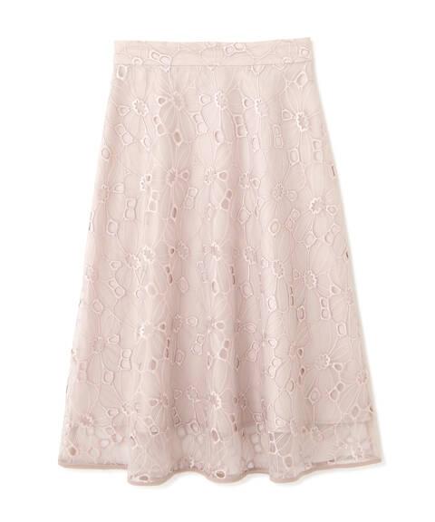 【先行予約5月下旬-6月上旬入荷予定】オーガンエンブロイダリースカート