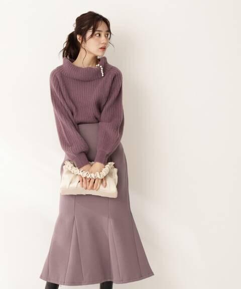 ダンボールニットマーメイドスカート