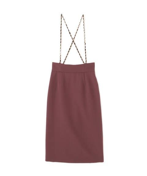 【先行予約9月上旬-9月中旬入荷予定】チェーンショルダータイトスカート