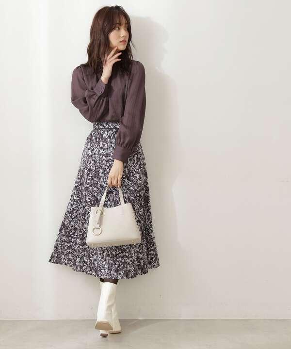 blur zebraマーメイドスカート WEB限定カラー:ブラック