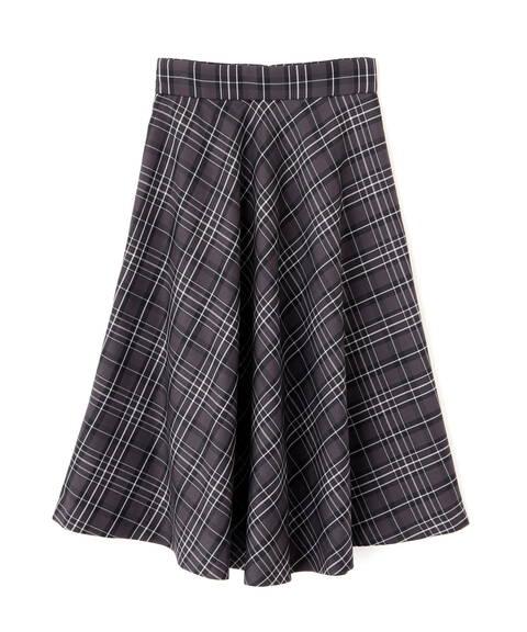 【先行予約9月上旬-9月中旬入荷予定】クラシカルチェックフレアスカート